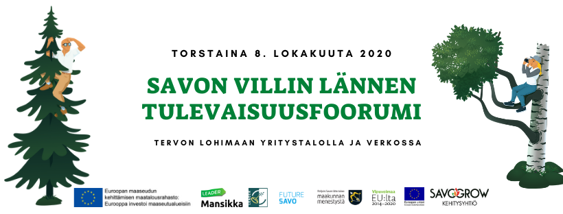 Savon villin Lännen ensimmäinen tulevaisuusfoorumi järjestetään 8. lokakuuta.